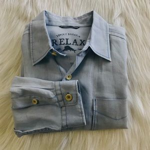 Tommy Bahama RELAX Long Sleeve M Shirt 100% Linen